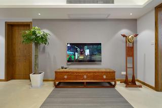 中式风格三居电视背景墙装修效果图