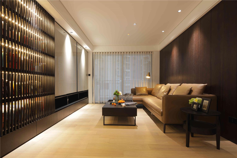 85㎡现代简约客厅装修效果图