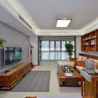 中式风格三居装修效果图