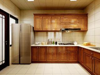 经典美式风格四居厨房装修效果图