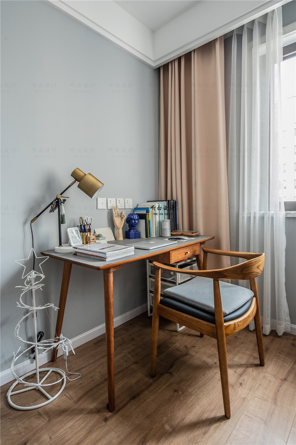 北欧风格三居室书房装修效果图