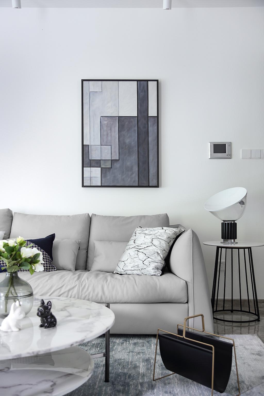 大户型简约现代装修沙发设计图