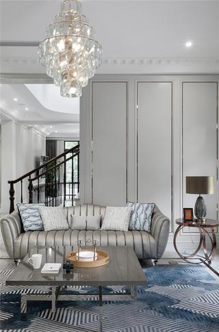 美式轻奢别墅装修沙发设计