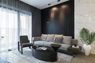现代简约两居沙发背景墙装修效果图