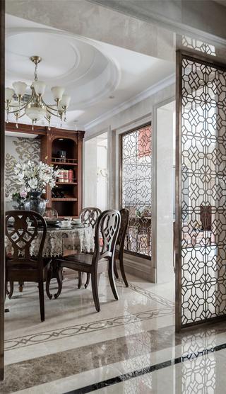 古典美式风格别墅餐厅装修效果图