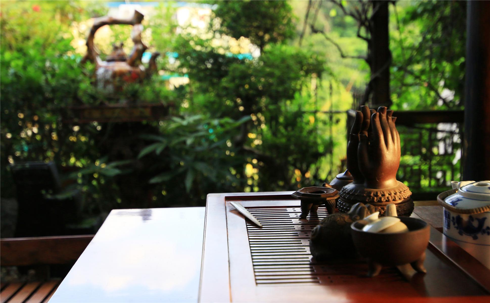 中式风格别墅装修茶桌小景