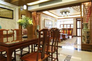 中式風格別墅餐廳裝修效果圖