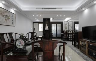 135㎡新中式风格客厅装修效果图