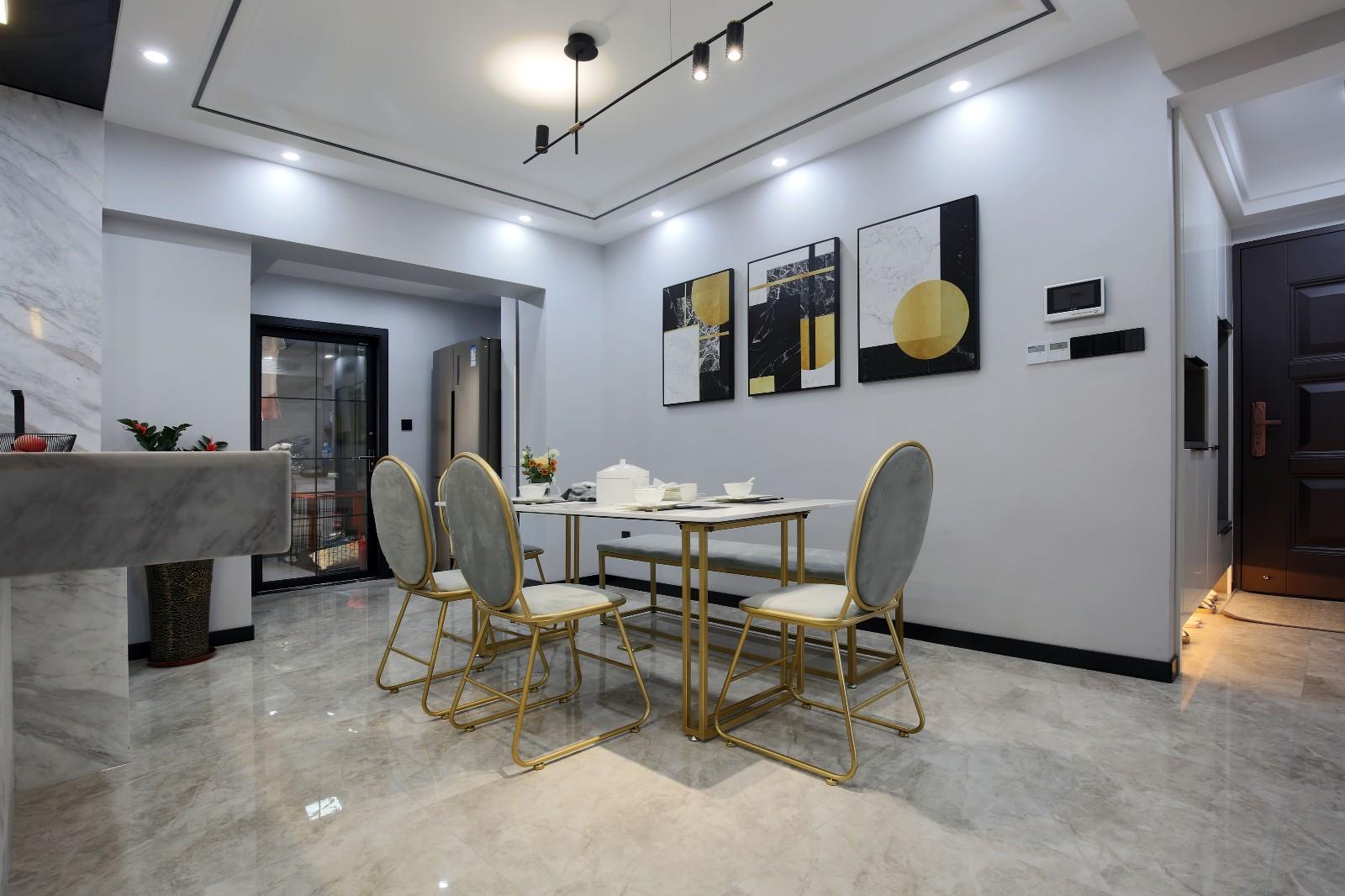 140㎡现代三居餐厅装修效果图