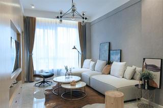 73平现代简约三居客厅装修效果图