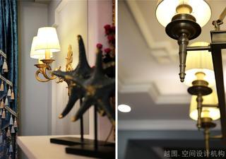 美式风格三居装修灯饰特写