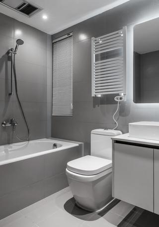120㎡现代简约卫生间装修效果图
