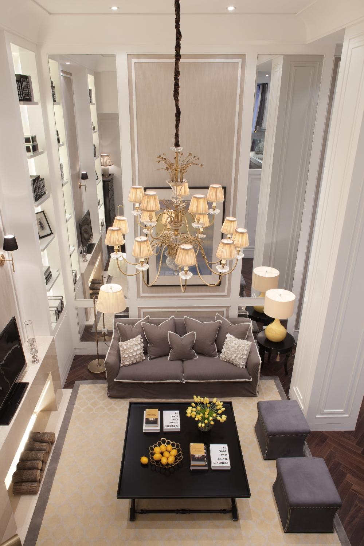 轻奢优雅别墅家庭厅装修效果图