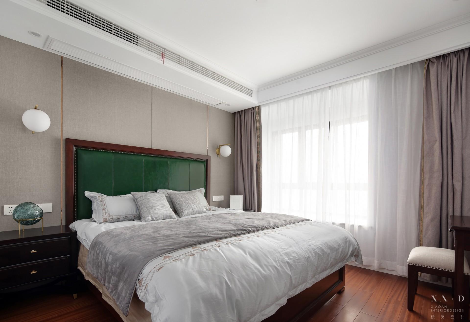 140㎡轻奢风三居卧室装修效果图