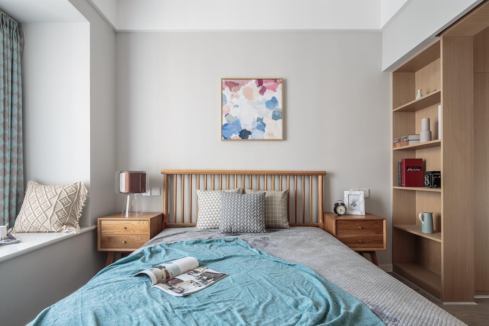 北欧风三居卧室每日首存送20