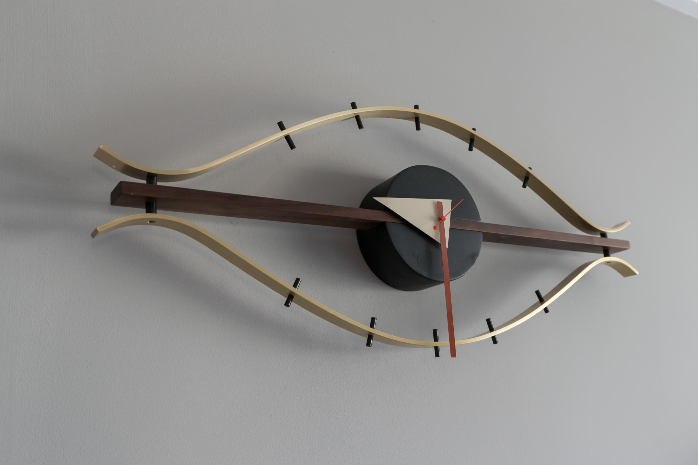 120㎡现代北欧风装修造型挂钟设计