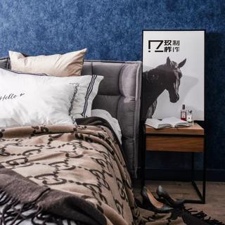 100㎡混搭风格装修床头细节图