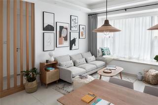 72㎡北欧风格沙发背景墙装修效果图