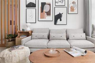 72㎡北欧风格装修沙发设计图