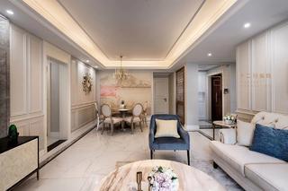 四居室美式风格客餐厅装修效果图