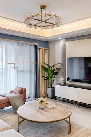 四居室美式风格装修客厅一角
