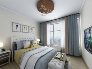 110平混搭风格卧室装修效果图