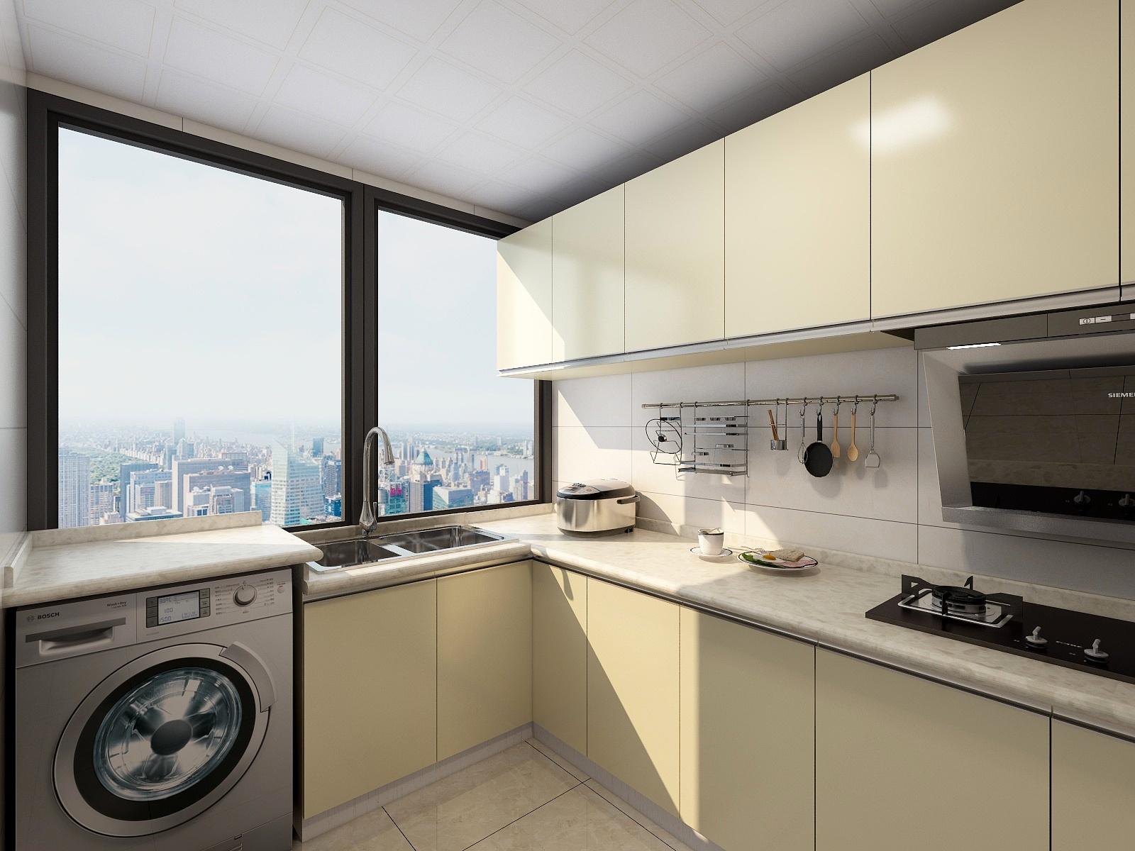 90平混搭风格厨房装修效果图
