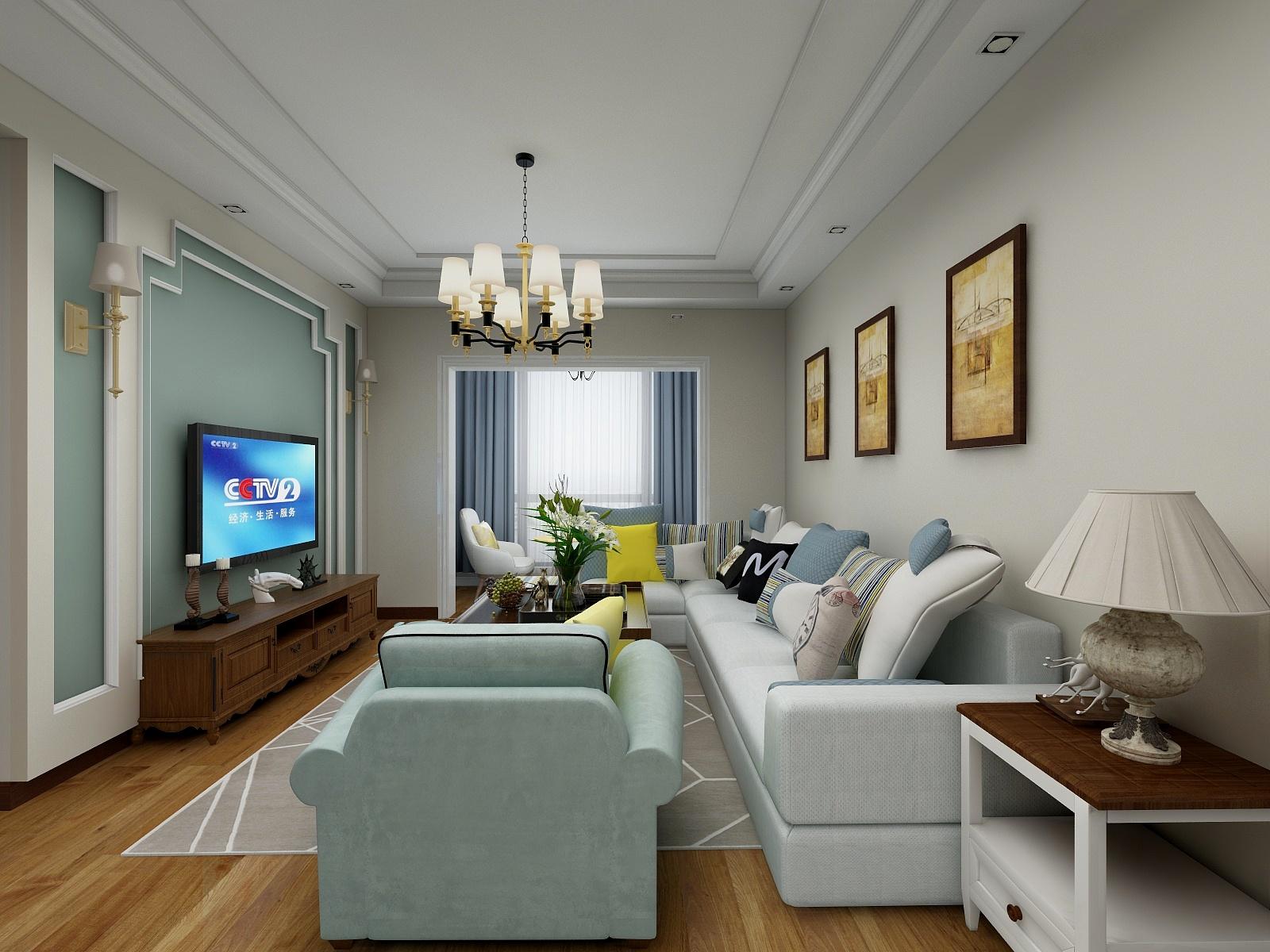 简美四居室客厅装修效果图