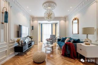 70㎡法式两居客厅装修效果图