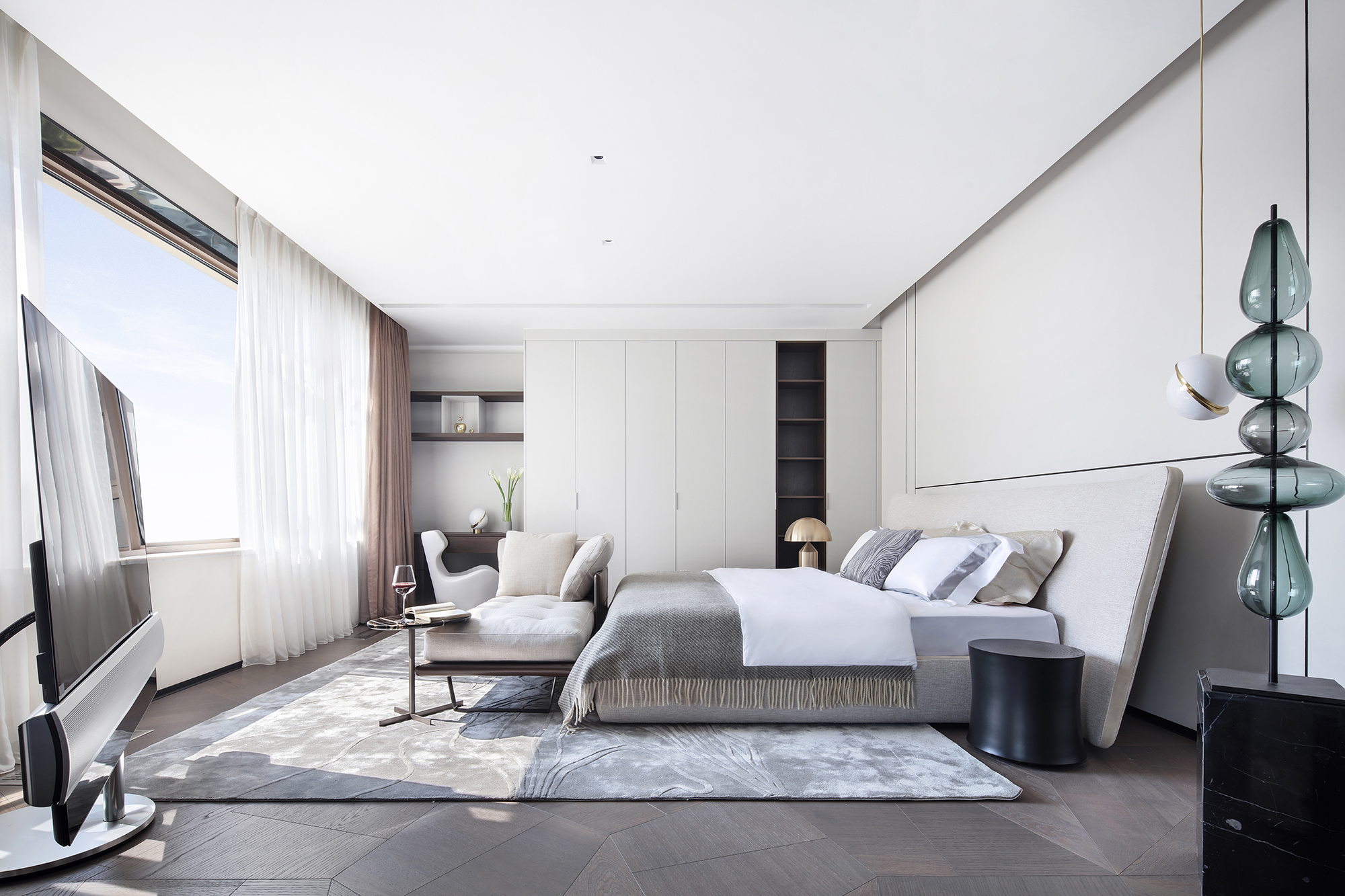 大户型现代风卧室装修效果图
