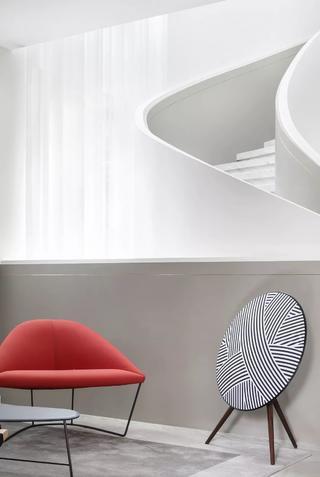简约现代风格别墅装修红色沙发椅设计