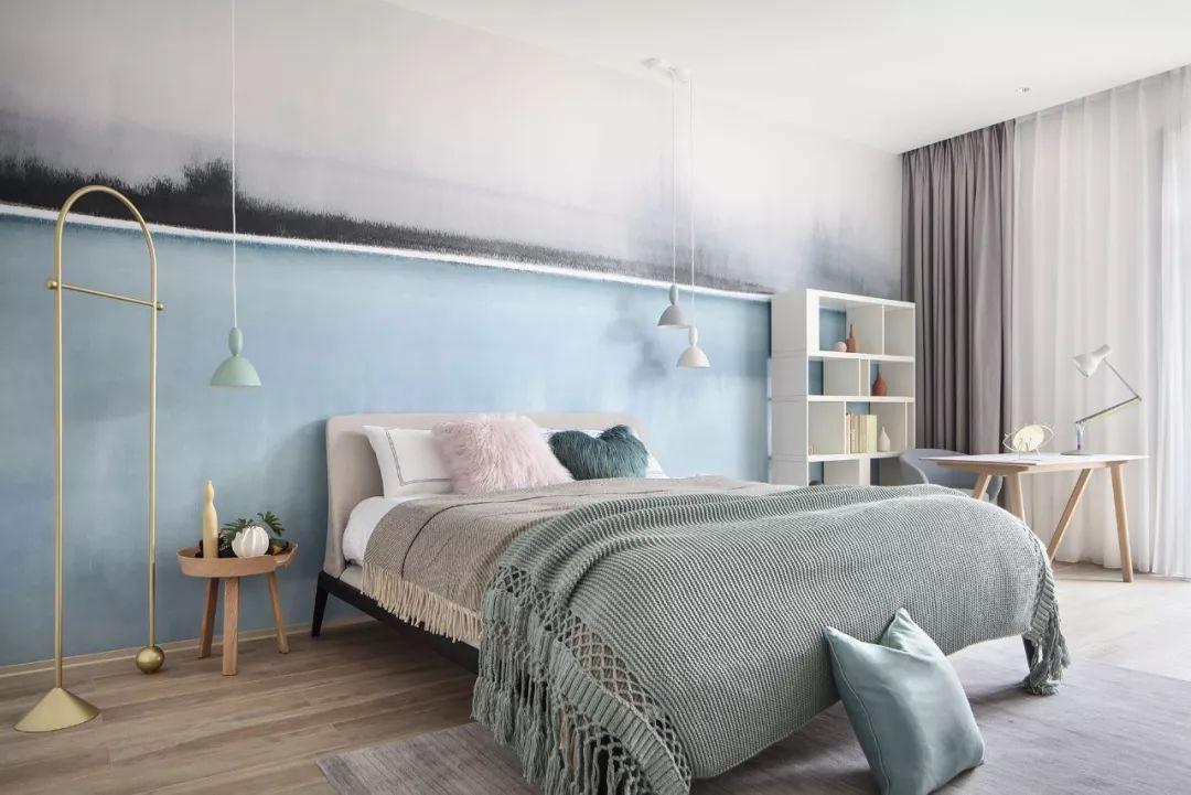 简约现代风格别墅卧室装修效果图