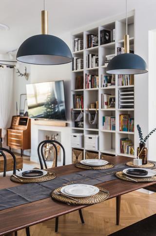 120㎡混搭三居装修餐厅吊灯设计