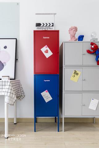 50㎡loft公寓装修储物柜设计图