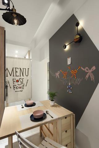 85平北欧风格餐厅装修效果图