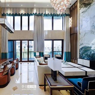 新中式风格别墅装修效果图
