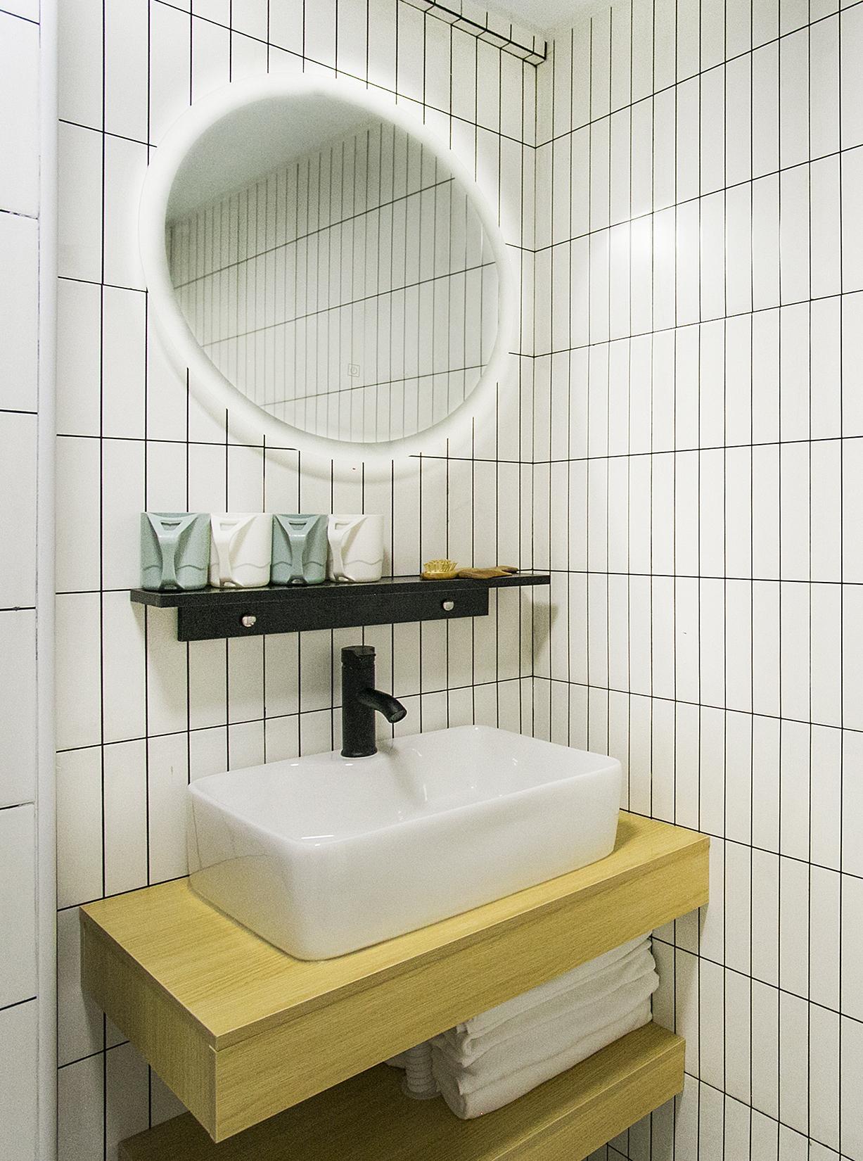 60平二居室洗手台装修效果图