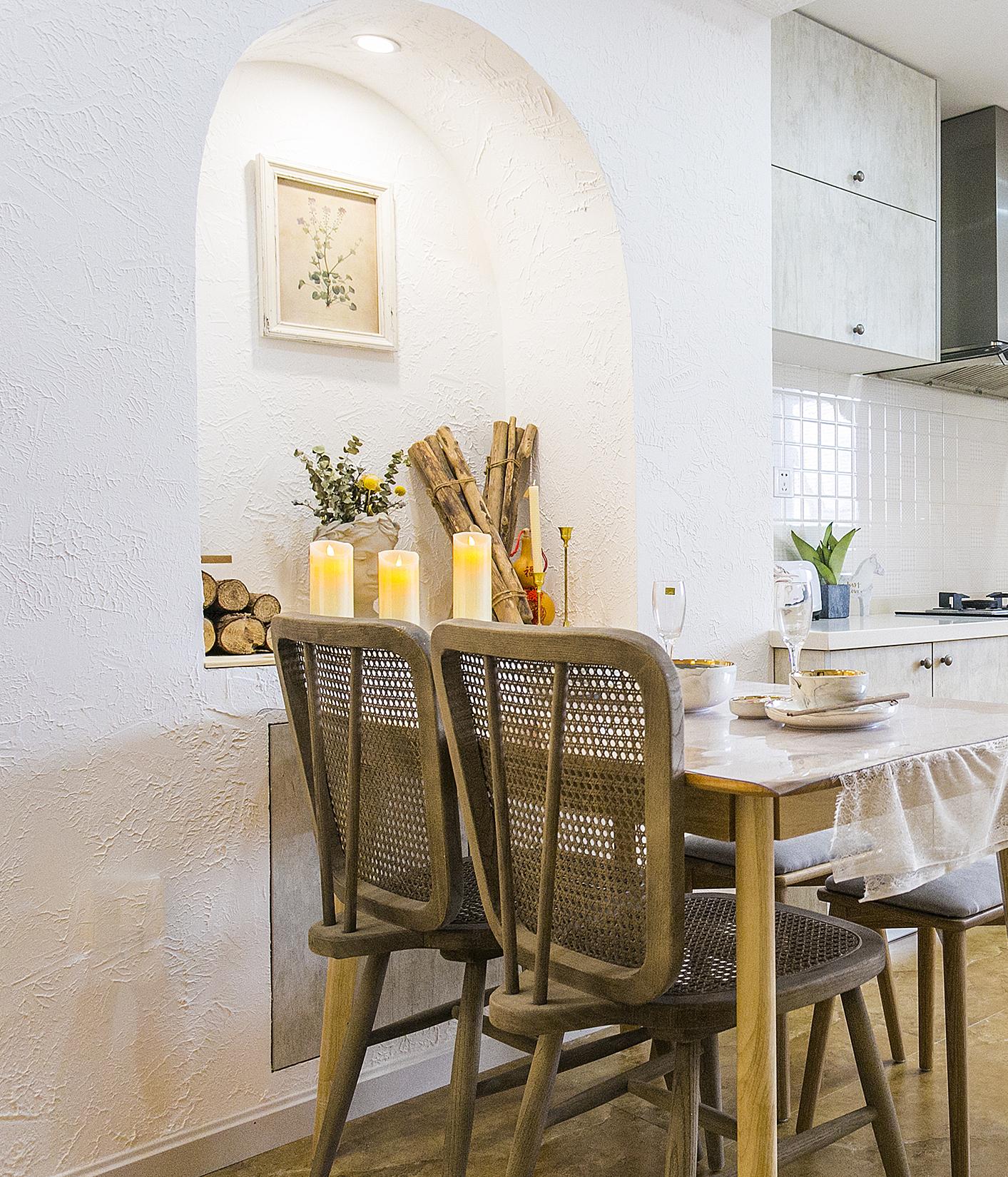60平二居室餐厅装修效果图