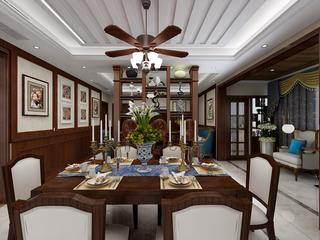 美式风格四居餐厅装修效果图