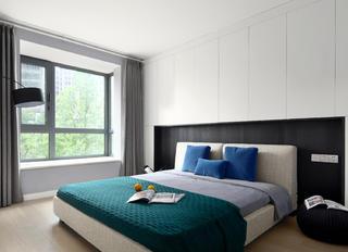 140平米现代简约卧室装修效果图