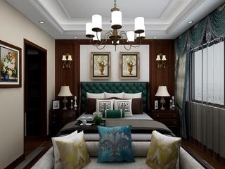 美式风格四居卧室装修注册送300元现金老虎机图