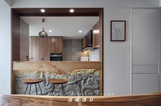 170㎡木质简约三居吧台装修效果图