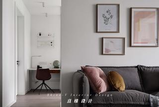 90㎡简约北欧风装修沙发抱枕设计