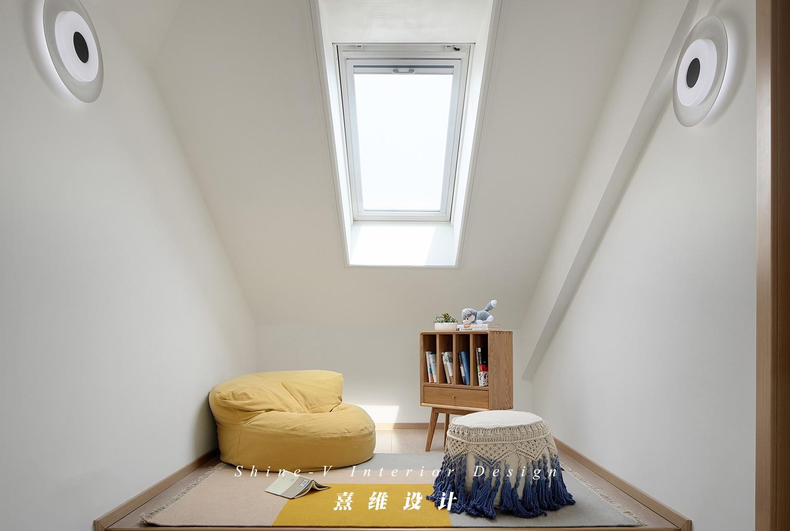 130平日式风格阁楼装修效果图