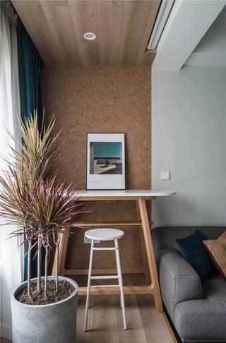 110平北欧风装修阳台吧台设计图