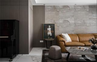 85㎡现代简约沙发背景墙装修效果图