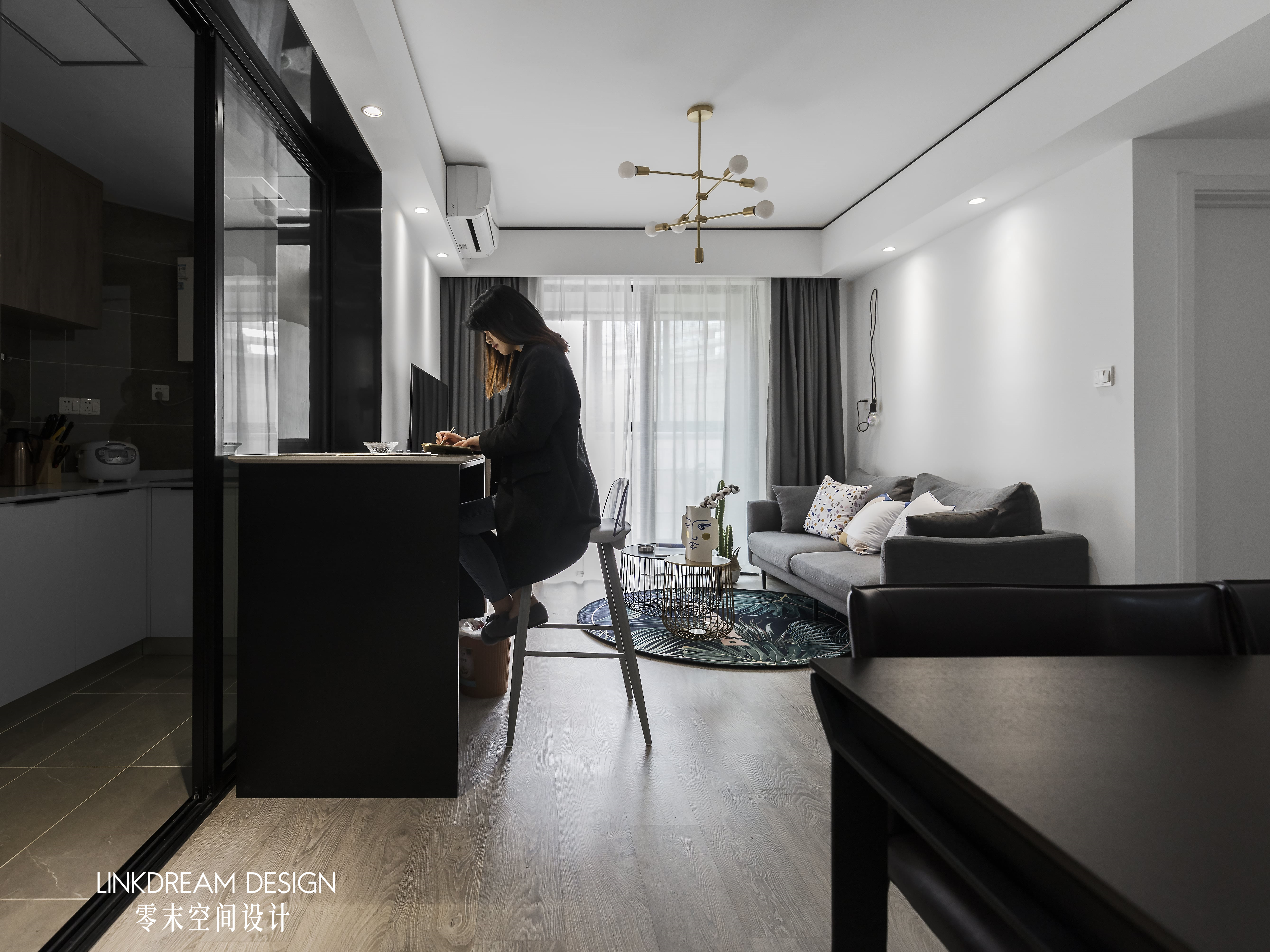 60平米两居室客厅装修效果图