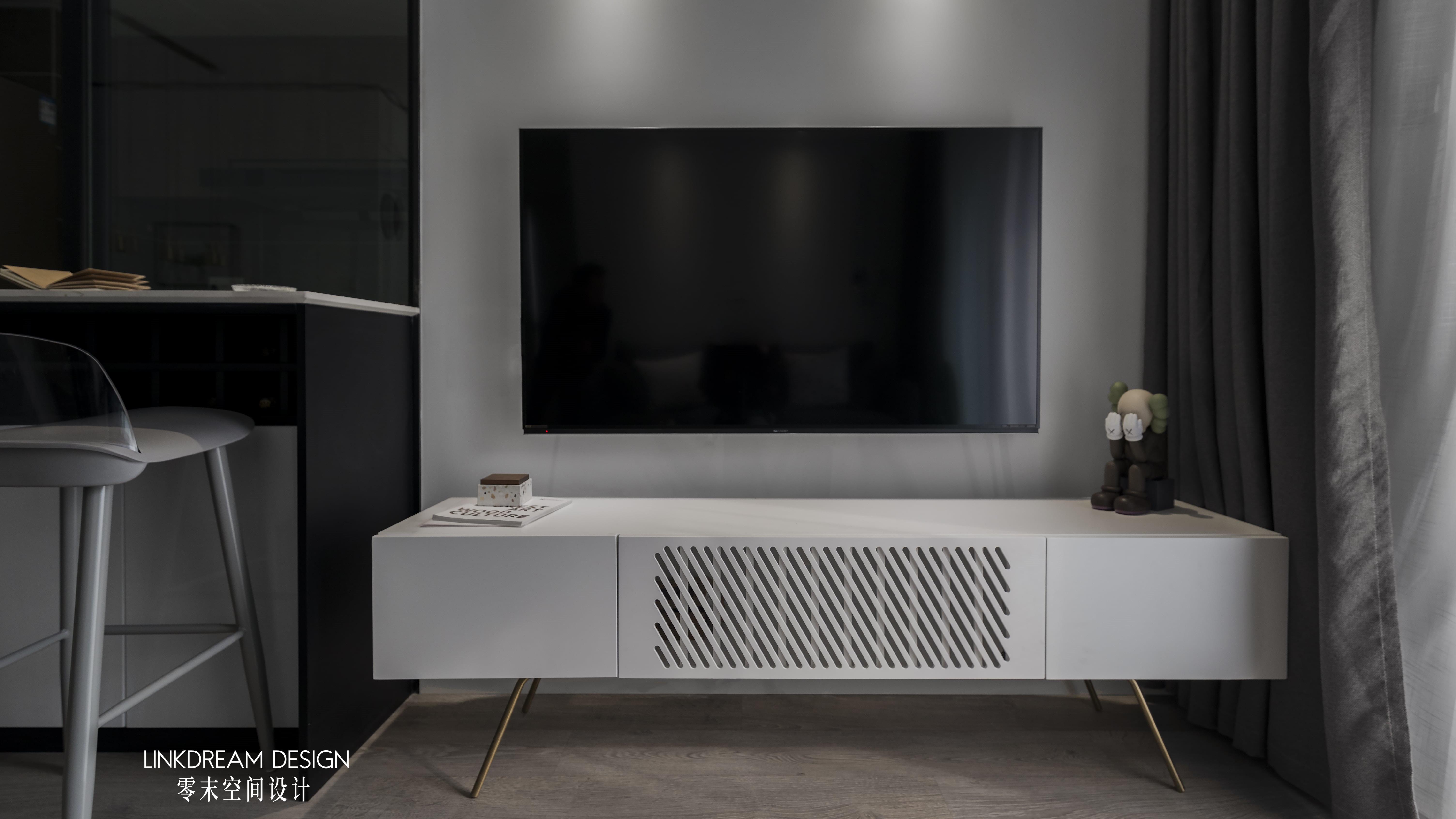 60平米两居室装修电视柜设计图