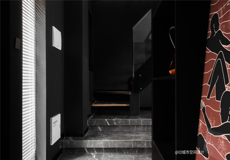 黑色调现代简约风过道装修效果图
