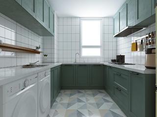 130平北歐風格廚房裝修效果圖